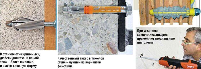 Химический анкер для газобетона своими руками 67